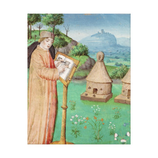 Virgil  writing the Life of Bees Stretched Canvas Prints