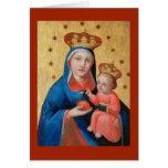Virgin and Baby Jesus - Christmas Card