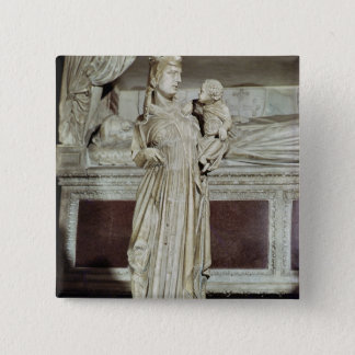 Virgin and Child 15 Cm Square Badge