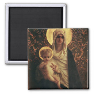 Virgin and Child, 1872 Square Magnet