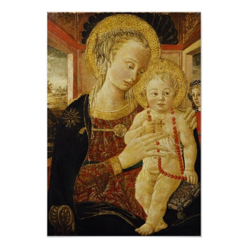 Virgin and Child 2 Poster