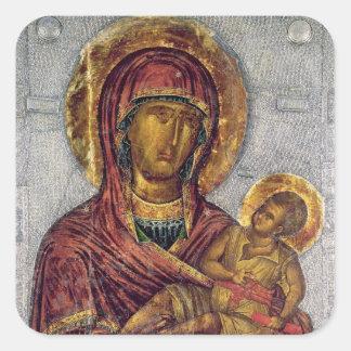 Virgin and Child 3 Square Sticker