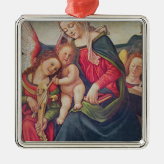 Virgin and Child and angel musicians Christmas Ornament