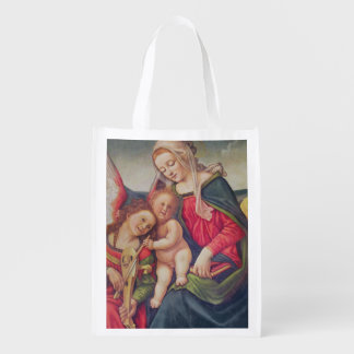 Virgin and Child and angel musicians Reusable Grocery Bag