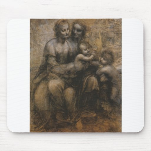 Virgin and Child by Leonardo da Vinci c. 1499 Mouse Pad