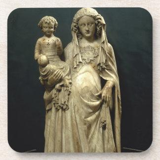 Virgin and Child, c.1375 (alabaster) Coasters