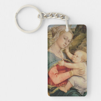 Virgin and Child, c.1465 Double-Sided Rectangular Acrylic Key Ring