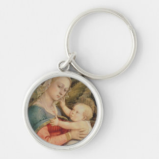Virgin and Child, c.1465 Silver-Colored Round Key Ring