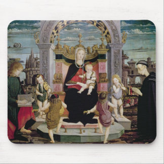 Virgin and Child Enthroned Mouse Mat