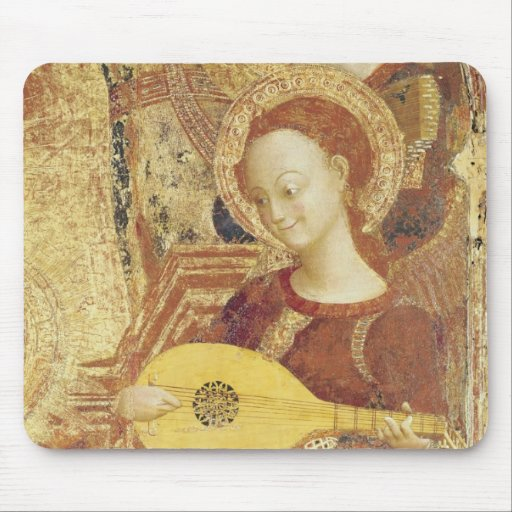 Virgin and Child Enthroned with six angels Mouse Pads