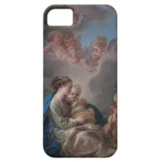 Virgin and Child - François Boucher iPhone 5 Covers