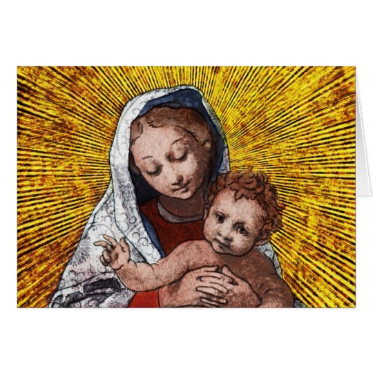 Virgin and Child I Card