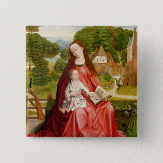 Virgin and Child in a Garden 15 Cm Square Badge