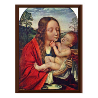 Virgin And Child In A Landscape Post Cards