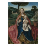 Virgin and Child in Landscape Vintage Fine Art Greeting Cards