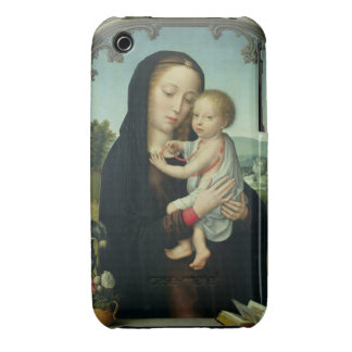Virgin and Child (oil on panel) iPhone 3 Cases
