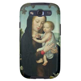 Virgin and Child (oil on panel) Samsung Galaxy S3 Covers