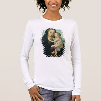 Virgin and Child (oil on panel) Long Sleeve T-Shirt