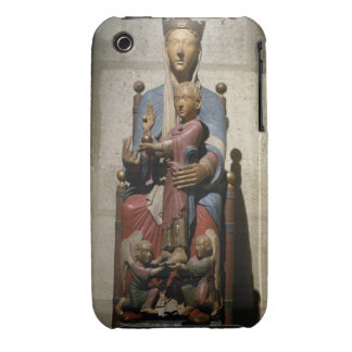 Virgin and Child, (polychrome wood) iPhone 3 Cover