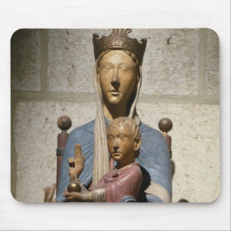 Virgin and Child, (polychrome wood) Mouse Pad