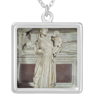 Virgin and Child Silver Plated Necklace
