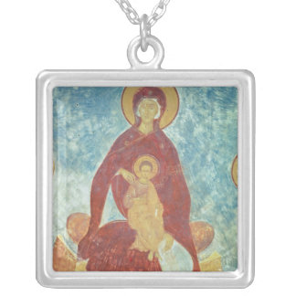Virgin and Child Square Pendant Necklace