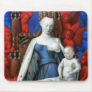 Virgin and Child surrounded by Angels - Fouquet Mouse Mat