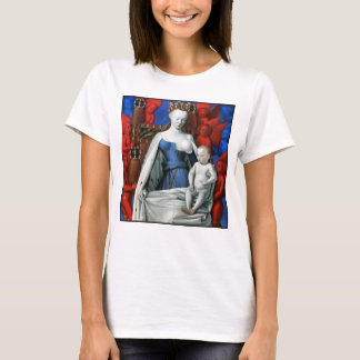 Virgin and Child surrounded by Angels - Fouquet T-Shirt