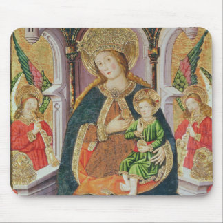 Virgin and Child with Angel Musicians Mouse Mat