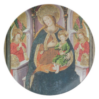 Virgin and Child with Angel Musicians Party Plate