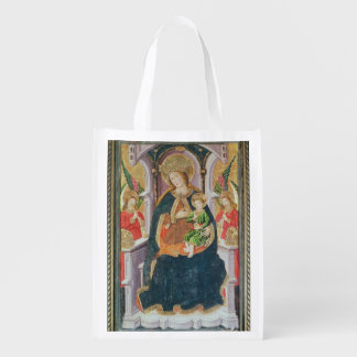 Virgin and Child with Angel Musicians Reusable Grocery Bag