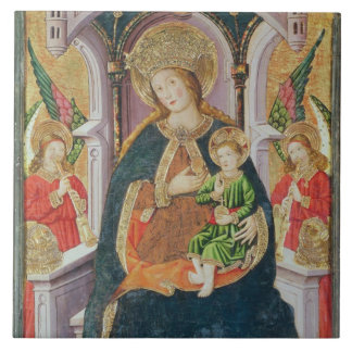 Virgin and Child with Angel Musicians Tile