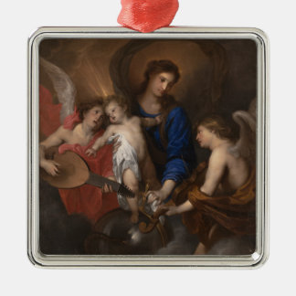 Virgin and Child with Music Making Angels Christmas Ornament