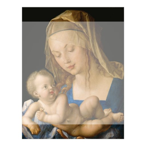 Virgin and Child with Pear by Albrecht Durer Custom Flyer