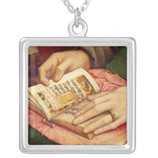 Virgin and Child with Saints Silver Plated Necklace