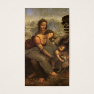 Virgin and Child with St. Anne and Lamb by DaVinci Business Card