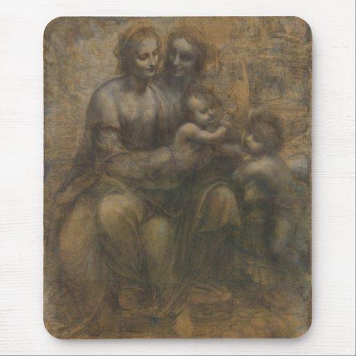 Virgin and Child with St Anne by Leonardo da Vinci Mousepad
