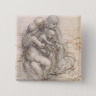 Virgin and Child with St. Anne, c.1501-10 (pen and 15 Cm Square Badge