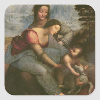 Virgin and Child with St. Anne, c.1510 Square Sticker