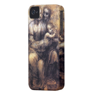 Virgin and Child with St. Anne sketch iPhone 4 Case-Mate Cases