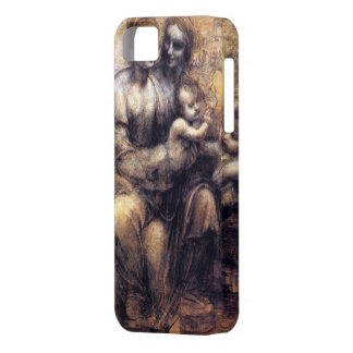 Virgin and Child with St. Anne sketch iPhone 5 Cases