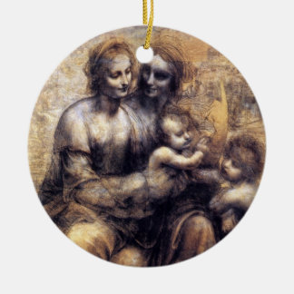Virgin and Child with St. Anne sketch Ornaments