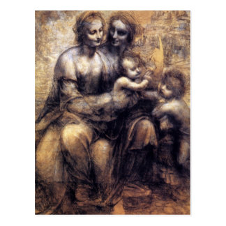 Virgin and Child with St. Anne sketch Post Card