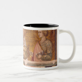 Virgin and Child with St. Francis and St. John Two-Tone Coffee Mug