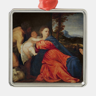 Virgin and Infant Christmas Ornament