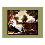 Virgin and the Unicorn Postcard