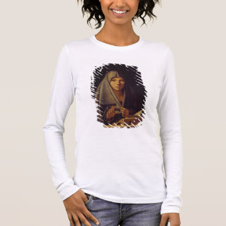 Virgin Annunciate (oil on panel) Long Sleeve T-Shirt