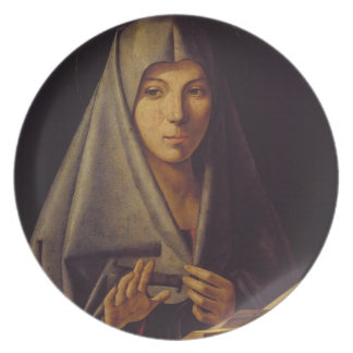 Virgin Annunciate (oil on panel) Plates