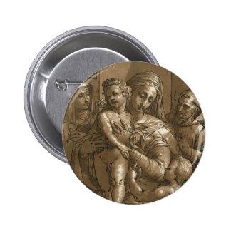Virgin, Child, and Saints button