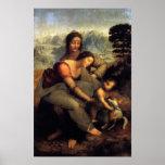 Virgin & Child w/ St.Anne & Lamb Poster